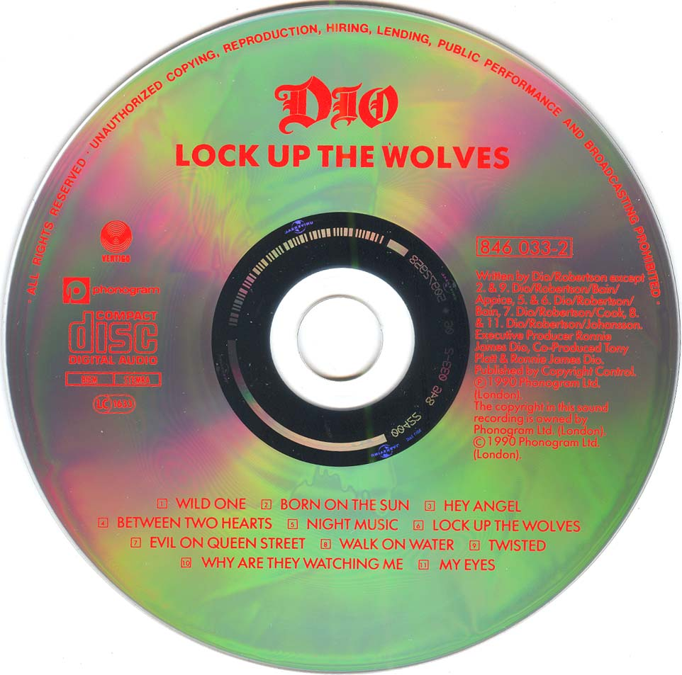 Lock Up Original Song Download: Tapio's Ronnie James Dio Pages: Dio CD Discography