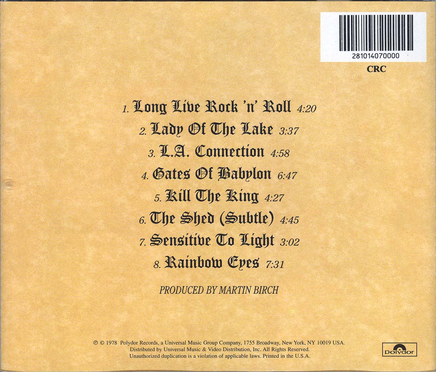 Ένα άλμπουμ για το οποίο τα λόγια είναι περιττά! Long Live Rock 'n' roll!!  Long_live_rock_n_roll_us_columbia_back_dionet-00147