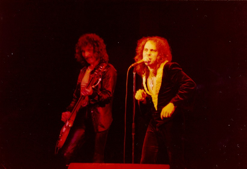 Ronnie and Geezer on stage
