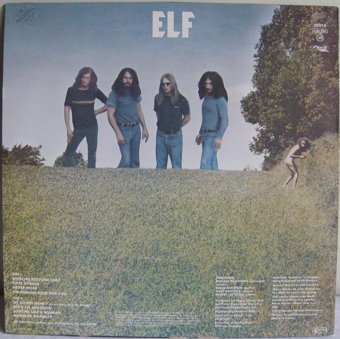 Tapio's Ronnie James Dio Pages: Elf LP Discography, mid/late 1970